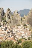 Castelmezzano Basilicata Fotografia Stock Libera da Diritti