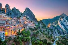 Castelmezzano, Italy. Stock Images
