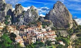 Castelmezzano village Royalty Free Stock Photos