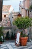 Castelmola corners Stock Image