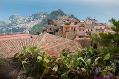Castelmola houses Royalty Free Stock Photography