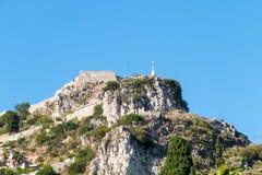 Castelmola stad Scape arkivbilder