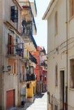 Castelmola street, Sicily. Royalty Free Stock Photo
