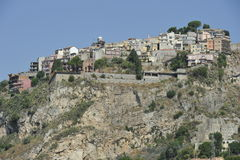 Castelmola, Village on top of a Rock Stock Photography