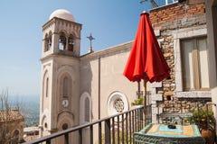 Castelmola widoki zdjęcie royalty free