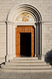 Castelmonte  sanctuary - entrance to the church Stock Photography