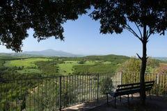Castelmuzio Trequanda imagen de archivo libre de regalías