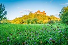 Castelnau slott i Bretenoux Royaltyfri Fotografi