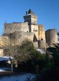 castelnaud城堡中世纪perigord 图库摄影