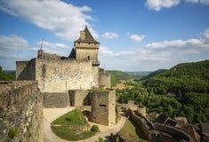 Castelnaud城堡 库存照片