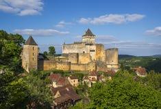 Castelnaud城堡 免版税库存照片