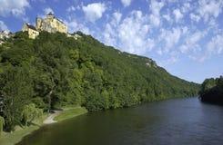 castelnaud dordogne ποταμός της Γαλλίας Στοκ εικόνα με δικαίωμα ελεύθερης χρήσης