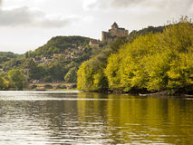 Castelnaud Dordogne river France Royalty Free Stock Images