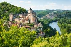Castelnaud-La-Chapelle in Dordogne-Abteilung in Frankreich stockfoto