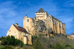 Castelnaud La Chapelle's castle in Dordogna Stock Images