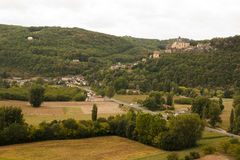 Castelnaud from Le Jardin Marqueyssac Royalty Free Stock Images