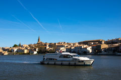 Castelnaudary, France. Castelnaudary is a commune in the Aude department in the Languedoc-Roussillon region in south France. It is in the former province of the royalty free stock photography