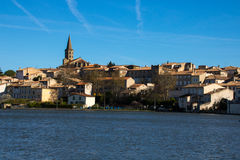 Castelnaudary, France. Castelnaudary is a commune in the Aude department in the Languedoc-Roussillon region in south France. It is in the former province of the stock image