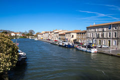 Castelnaudary, France. Castelnaudary is a commune in the Aude department in the Languedoc-Roussillon region in south France. It is in the former province of the stock photography