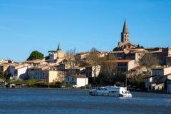 Castelnaudary, Frankrijk stock afbeelding