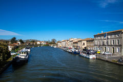 Castelnaudary Frankrike Arkivbild