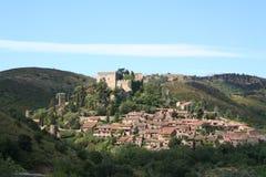 Castelnou, Frankrijk. Stock Afbeeldingen