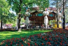 Castelnuovo del Garda, Italy - September 31 2016: Gardaland Theme Park in Castelnuovo Del Garda, Verona, Italy. Play; pleasure; white; world; garden; green Stock Image