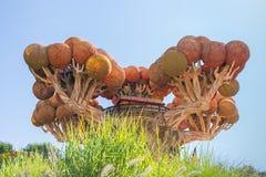 Castelnuovo del Garda, tree, Italy - Agust 31 2016: Gardaland Theme Amusement Park in Castelnuovo Del Garda, Verona, Italy. Carousel; tree; orange; symbol Stock Images