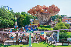 Castelnuovo del Garda, tree, Italy - Agust 31 2016: Gardaland Theme Amusement Park in Castelnuovo Del Garda, Verona, Italy. Carousel; tree; orange; symbol Stock Image