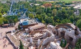Castelnuovo del Garda, tree, Italy - September 31 2016: Gardaland Theme Amusement Park in Castelnuovo Del Garda, Verona, Italy. Stock Images