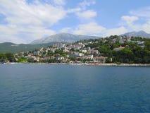 Castelnuovo la città sulla costa del Montenegro Fotografie Stock