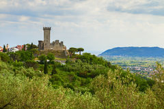Castelnuovo-magra Schloss stockfoto