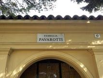 CASTELNUOVO RANGONE - MODENA - ITALY - SEPTEMBER 2017, Tenth anniversary of the death of tenor Luciano Pavarotti, the family tomb Royalty Free Stock Photo