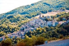 Castelnuovo val di Cecina stockfoto