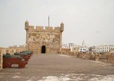 Castelo堡垒真正Mogador在Essaouira,摩洛哥 库存照片