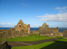 Castelo 06 de Dunluce Foto de Stock
