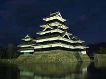 Castelo 08 de Matsumoto, noite, Japão Imagem de Stock Royalty Free