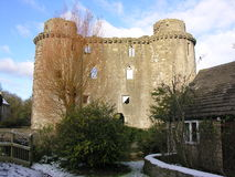 Castelo 2 de Nunney fotografia de stock