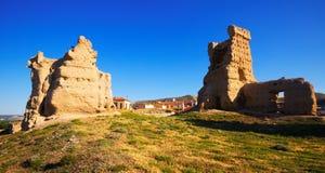 Castelo abandonado de Palenzuela imagem de stock royalty free