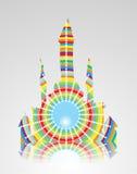 Castelo abstrato colorido Fotografia de Stock