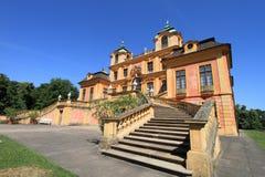 Castelo alaranjado elegante em Ludwigsburg Foto de Stock Royalty Free