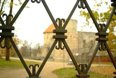 Castelo antigo, Cesis imagens de stock