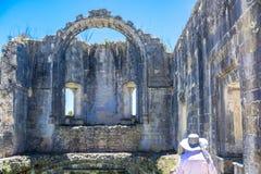 Castelo antigo das pessoas de 600 anos em Tomar, Portugal Imagem de Stock Royalty Free