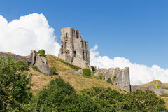 Castelo antigo de Corfe, Dorset, Reino Unido Fotografia de Stock