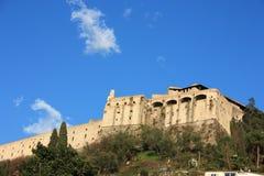 Castelo antigo do malaspina da cidade de Massa foto de stock