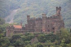 Castelo ao longo do Rhine River Imagens de Stock Royalty Free