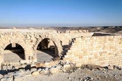 Castelo arruinado Shobak Foto de Stock Royalty Free