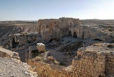 Castelo arruinado Shobak Foto de Stock