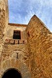 Castelo arruinado velho em Morella, Spain. Fotos de Stock