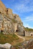 Castelo arruinado velho na cidade de Morella, Spain. Fotografia de Stock Royalty Free